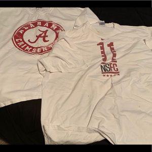Lot of two 3XL Alabama Crimson Tide tshirts